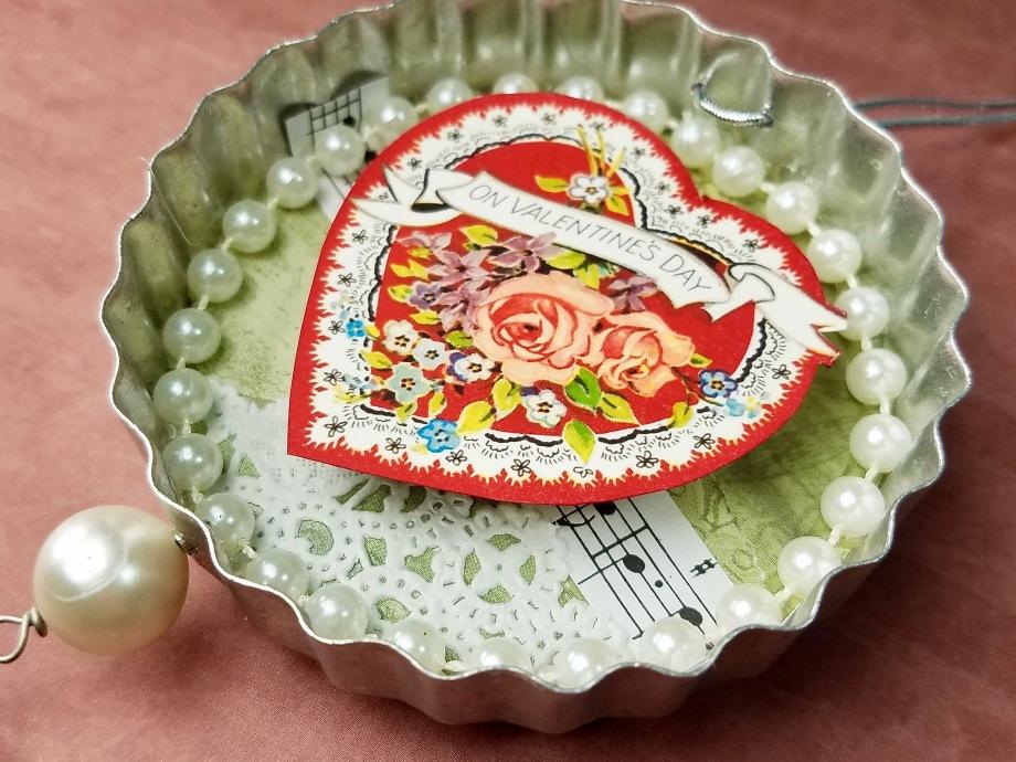 Vintage Cookie cutter Valentine ornament