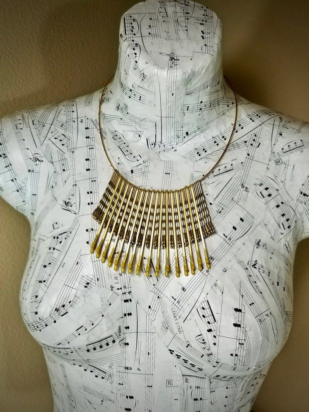 Egyptian style statement necklace