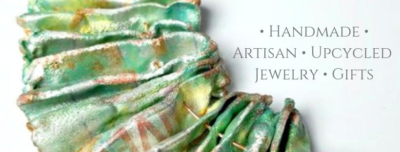 Handmade artisan upcycled jewelry