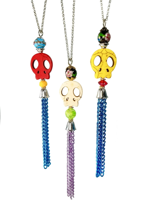 long sugar skull necklaces