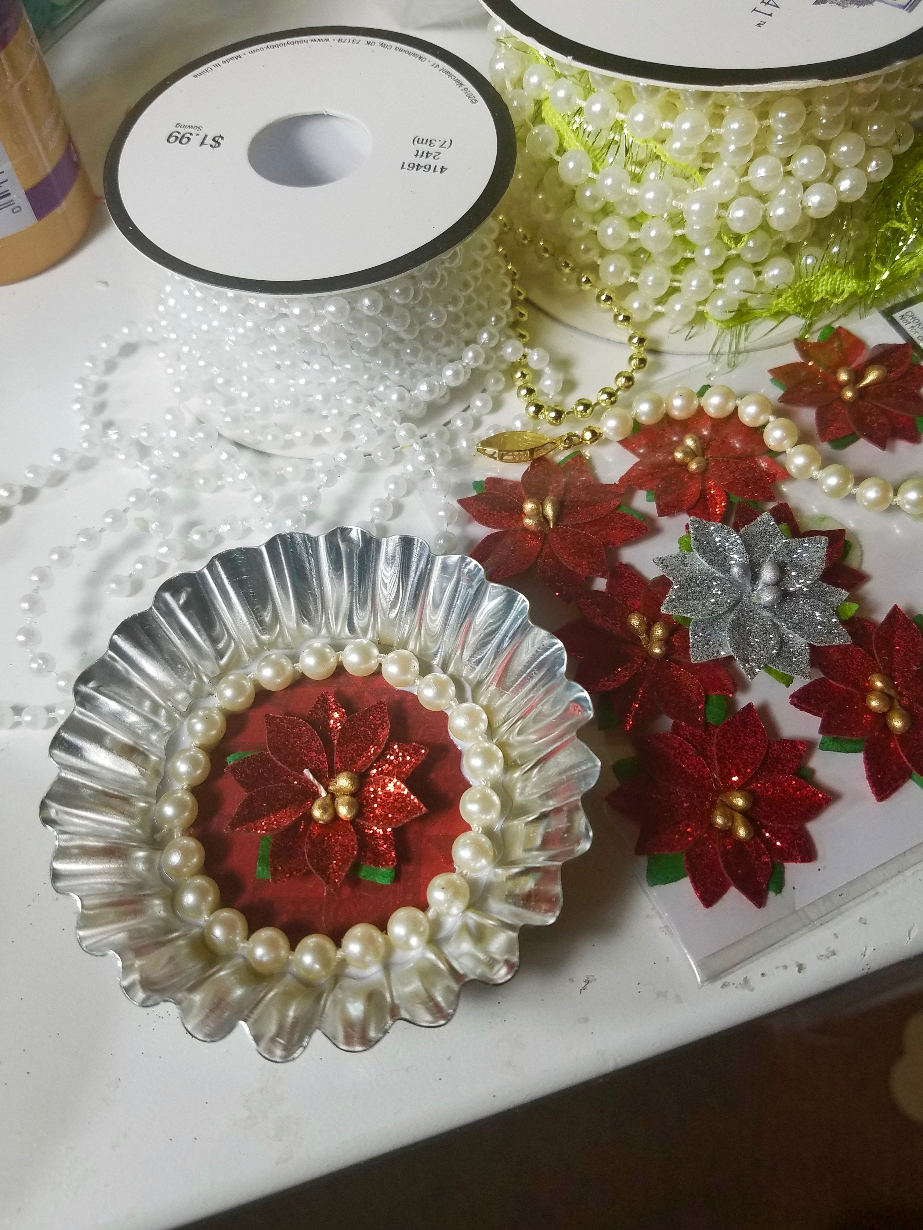 vintage inspired tart tin ornaments