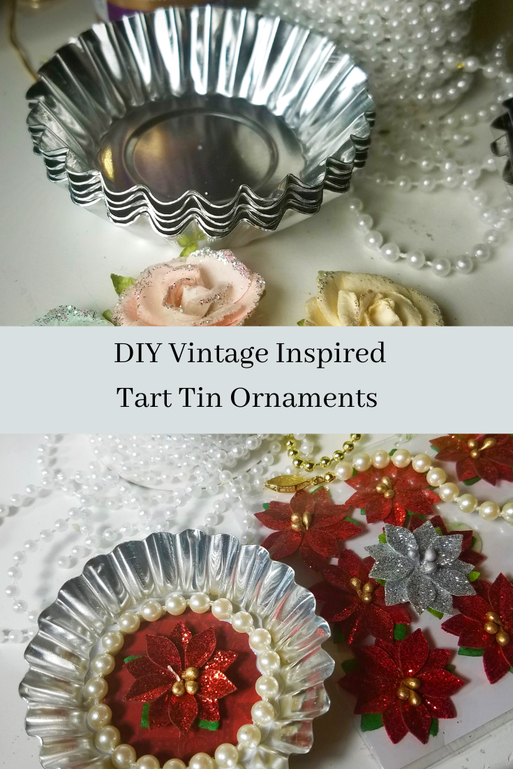 DIY Tart tin ornaments