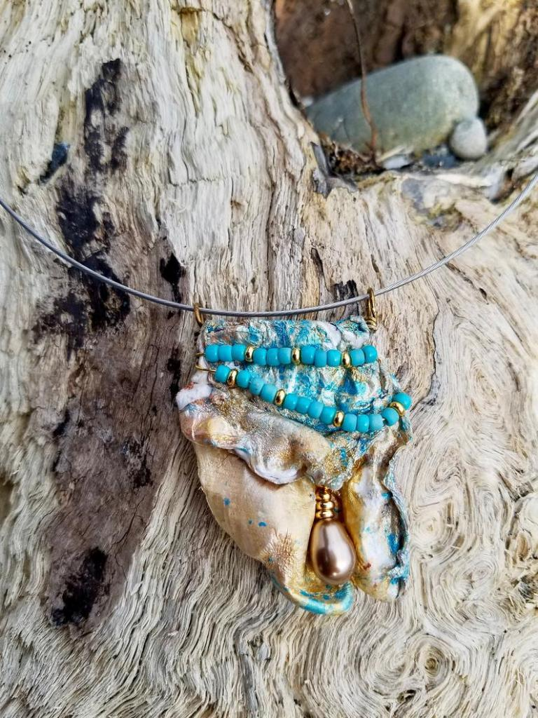 eco chic recycled necklace