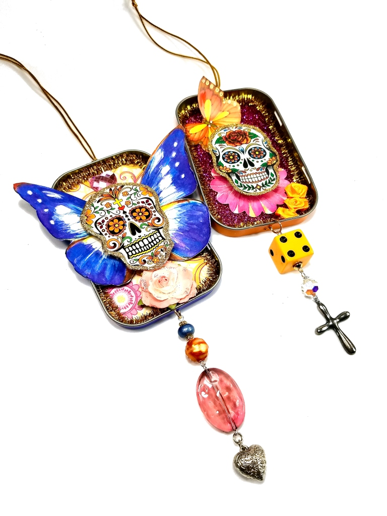 day of the dead butterfly ornaments