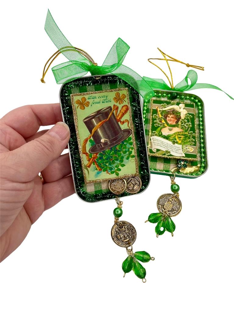 Upcycled St Patricks Ornaments