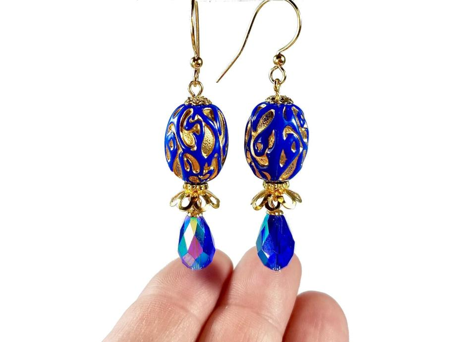 Vintage blue dangle earrings