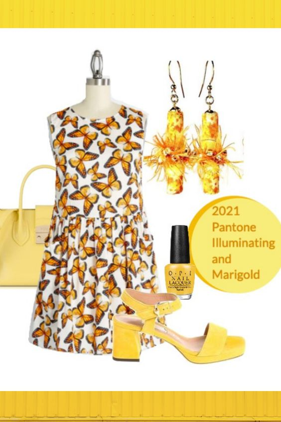 Yellow fashion ideas 2021