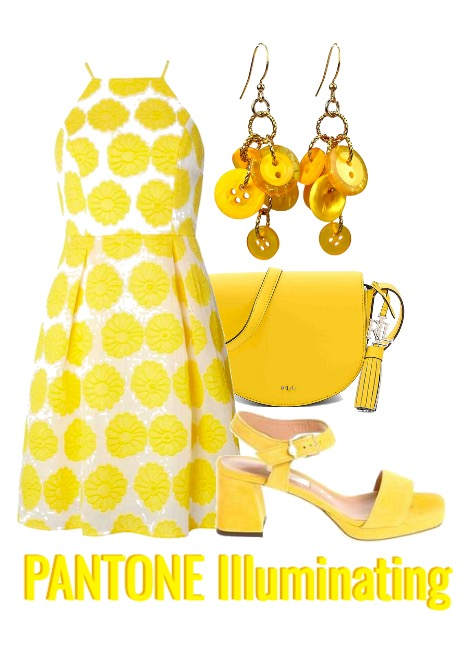 Pantone illuminating yellow fashion ideas