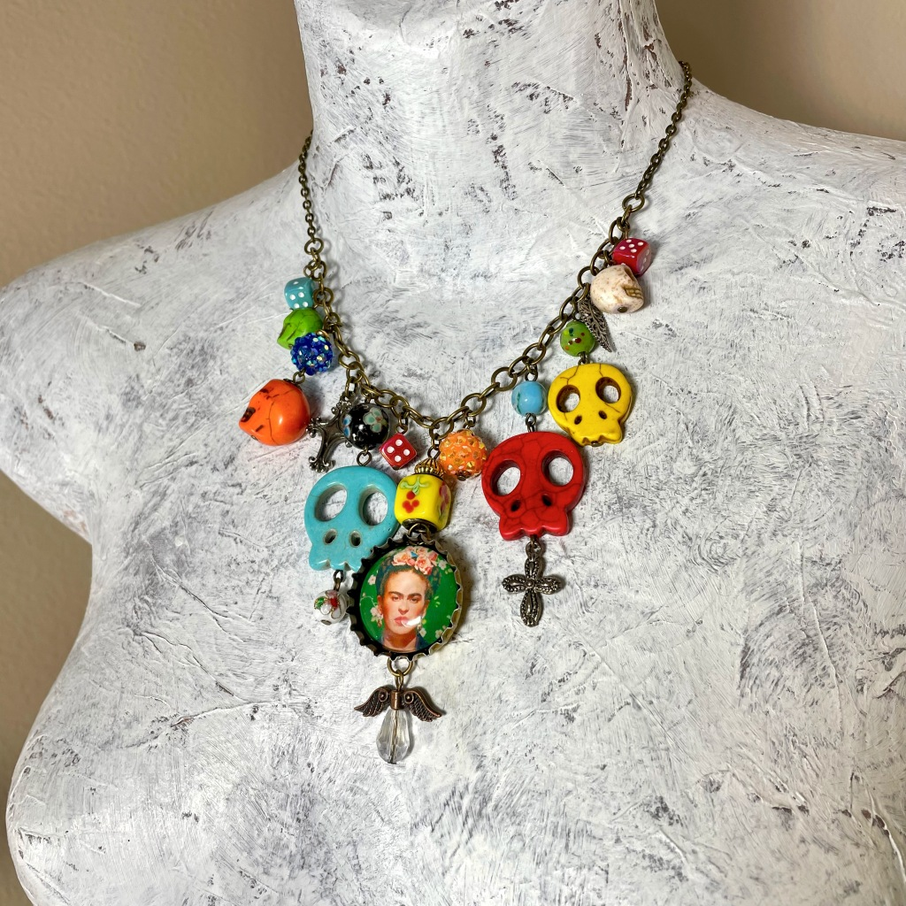 Day of the Dead Frida necklace